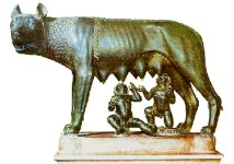 Kapitolska vlčica krámiaca bratov Romula a Rema